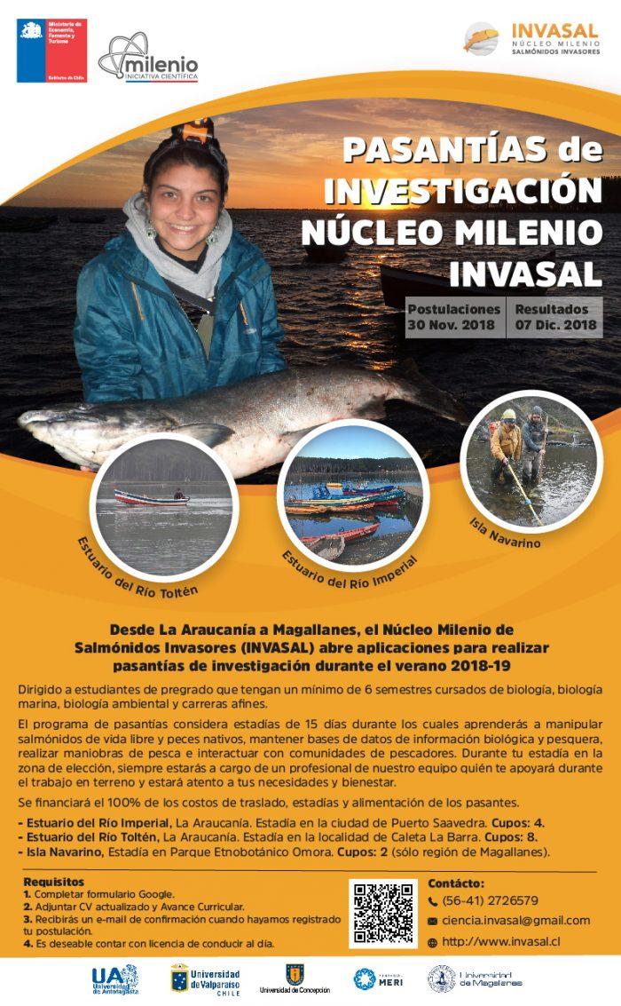 Pasantías de investigación – monitoreo de salmónidos invasores
