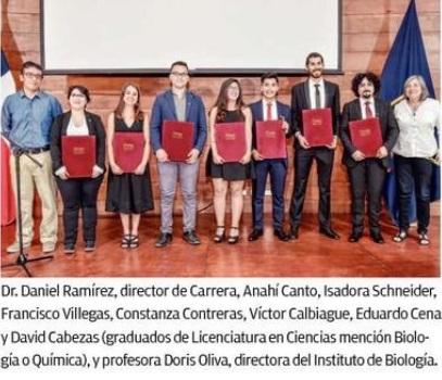 Ceremonia de Titulación de estudiantes en Licenciatura en Ciencias, promoción 2017/2018