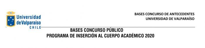 Bases Concurso Público » Programa de Inserción Académico 2020 «